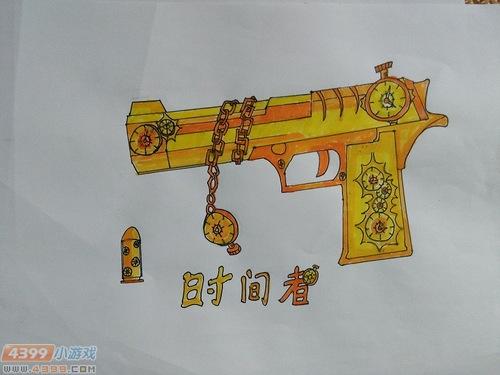 生死狙击玩家手绘-自创武器时间者