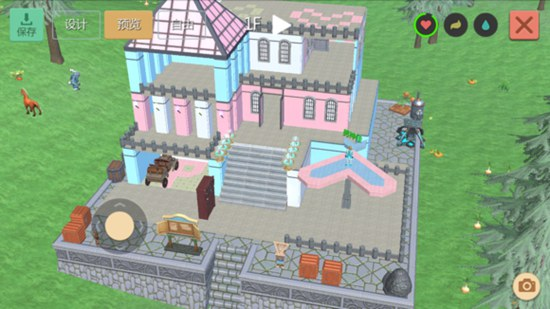 创造与魔法粉红别墅建筑图 粉红别墅设计图