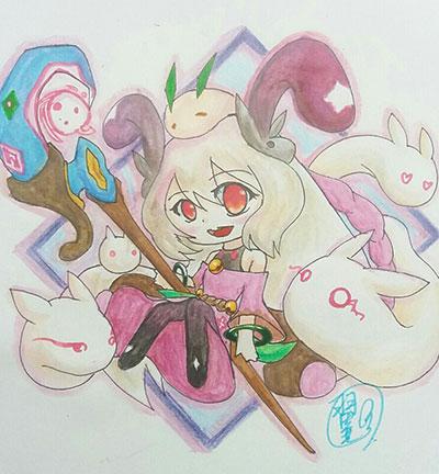赛尔号手绘 小可爱梦灵兔