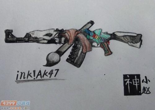 ÉúËÀ¾Ñ»÷Íæ¼ÒÊÖ»æ-ink!AK47