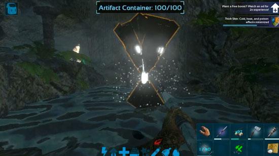 方舟生存进化中央洞穴神器