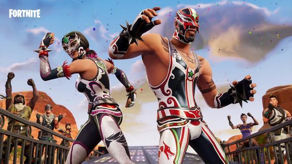 堡垒之夜手游官方海报:墨西哥摔跤