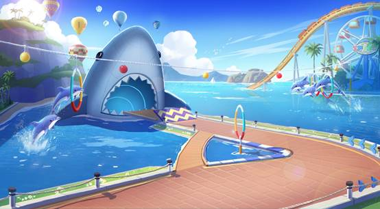 QQ飞车狂鲨水世界