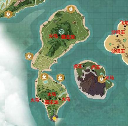 创造与魔法地图资源分布图 地图资源大全