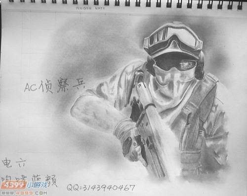 生死狙击玩家手绘-ac侦察兵