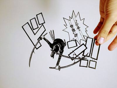 索隆黑白手绘图