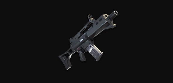 堡垒之夜手游高爆发高射速的消音突击步枪?
