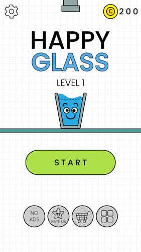 快乐玻璃杯