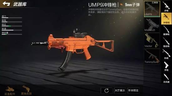 全军出击橙色UMP9