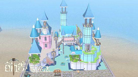 创造与魔法海边城堡建筑设计图 海边城堡建筑平面设计