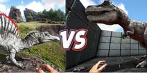 方舟生存进化恐龙对比:棘背龙VS霸王龙