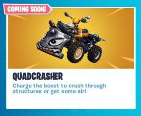 堡垒之夜手游即将推出新载具 四轮摩托新的拆迁神器