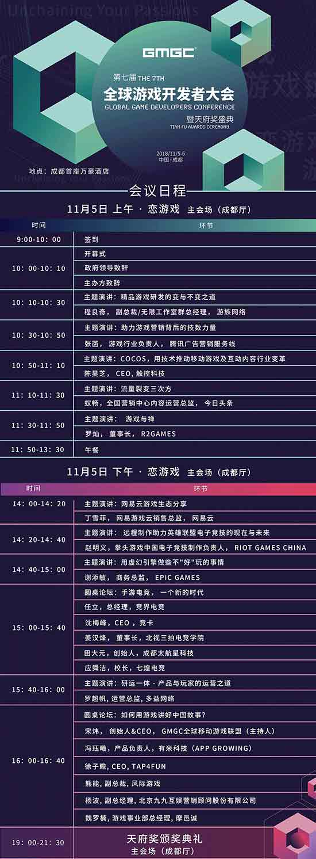 GMGC成都2018大会日程首曝光