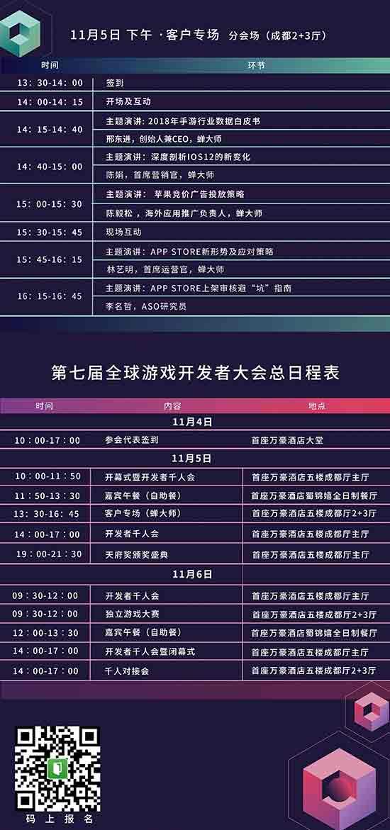GMGC成都2018大会日程