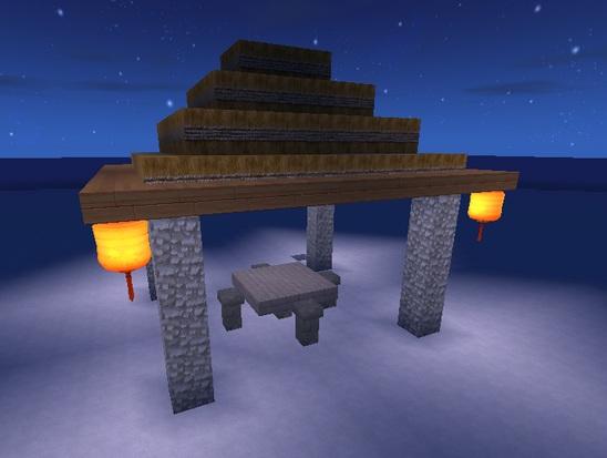 迷你世界蓝图怎么用 蓝图搭建小石亭