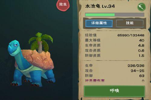 创造与魔法水池龟