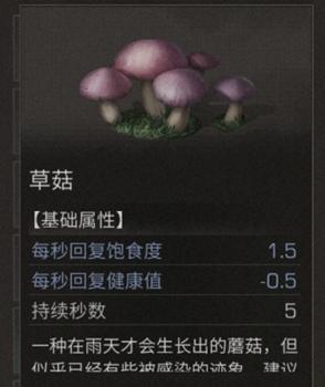 明日之后草菇