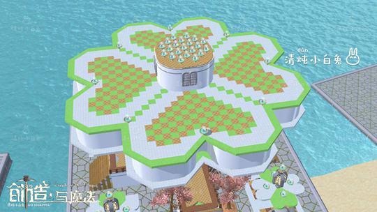 创造与魔法清新四叶草设计图 清新四叶草建筑平面设计图片