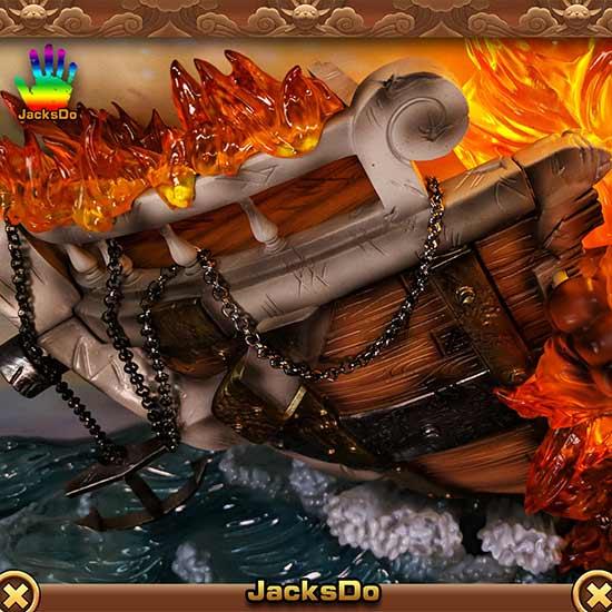 《海贼王》火葬梅里号雕像还原催泪一刻