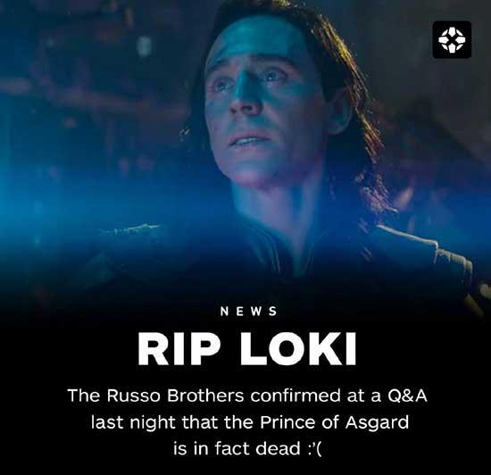 暴风雨哭泣!罗素兄弟确认《复仇者联盟3》里洛基真的死了