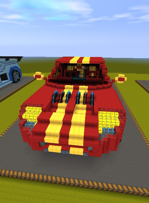 迷你世界创造存档:十二星座超级跑车 好玩存档分享