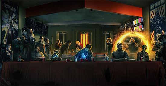 著名插画师绘制《复仇者联盟4》海报 鹰眼女儿灰飞烟灭