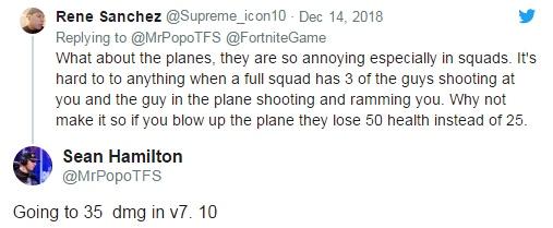 堡垒之夜v7.1版本改动 风暴战机爆炸伤害提升