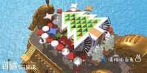 创造与魔法船屋·圣诞主题设计图 圣诞船屋建筑平面设计图纸