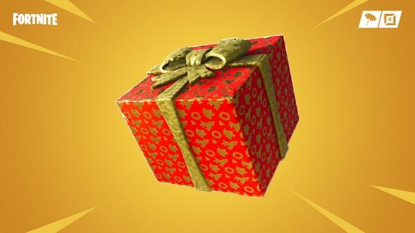 堡垒之夜V7.10新版本 打开圣诞节礼物拿取金武器