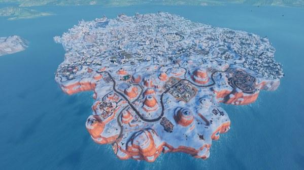 堡垒之夜手游圣诞节地图改动 冰雪覆盖全图