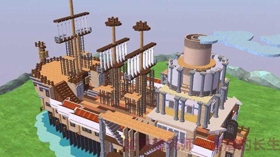 创造与魔法双涡轮帆船设计图 双涡轮帆船建筑平面设计图片