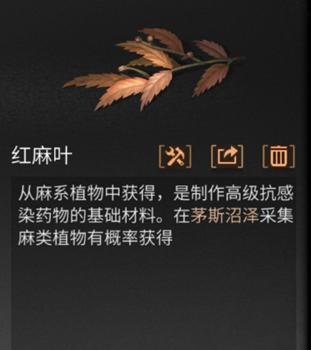 明日之后红麻叶怎么得 红麻叶获取方法