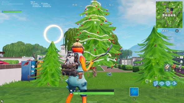 堡垒之夜节日树在哪里 在不同的节日树前面跳舞