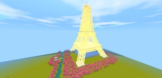 迷你世界创造存档:浪漫巴黎 好玩存档分享