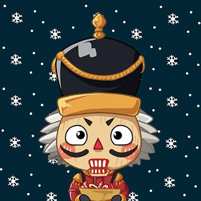 堡垒之夜手游官方手绘:圣诞Q版头像