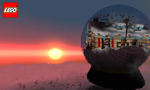 乐高无限建筑地图:玻璃内的木屋5