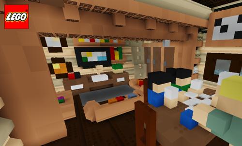 乐高无限建筑地图:玻璃内的木屋3