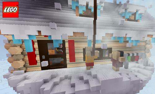 乐高无限建筑地图:玻璃内的木屋4