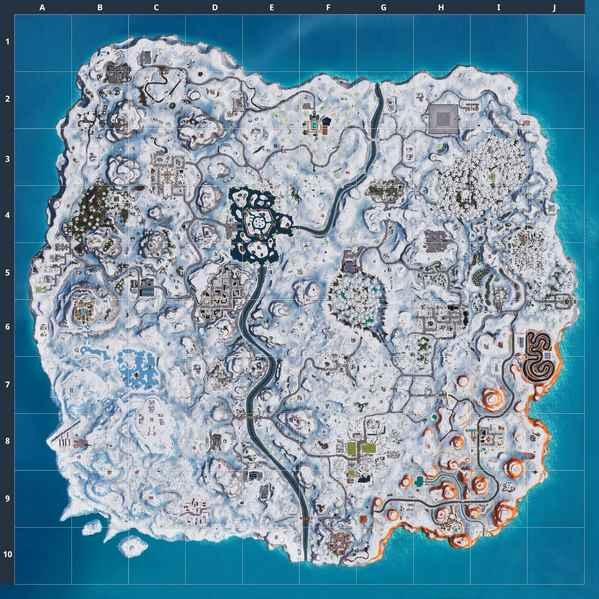 堡垒之夜出现神秘倒计时 地图将被冰雪肆虐?