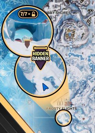 堡垒之夜第七赛季第八周隐藏任务 隐藏战旗任务在哪