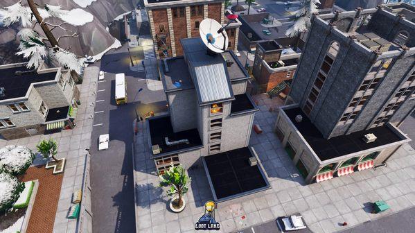 堡垒之夜v7.30地图改动 搭建舞台斜塔小镇大楼完工