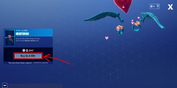 堡垒之夜爱心伞怎么免费得 商店里0v币的伞获得方法