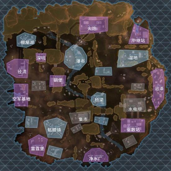 Apex英雄地图资源分布