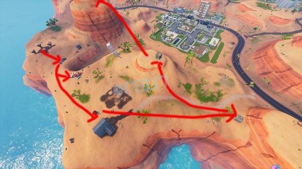 堡垒之夜沙漠超肥打野攻略 沙漠打野路线推荐