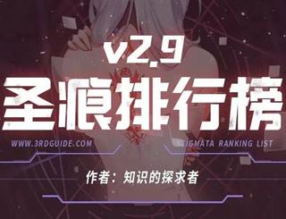 崩坏3圣痕排行榜V2.9版本