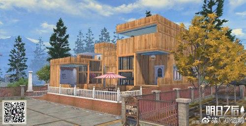 明日之后 周边爆料 建筑蓝图 正文  这个房子比较特别,是个泳池别墅