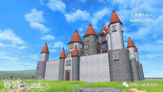 创造与魔法灰色城堡设计图 灰色城堡平面设计图纸