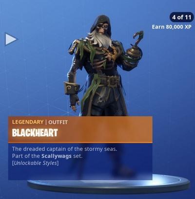 堡垒之夜手游黑胡子挑战 黑胡子套装解锁介绍