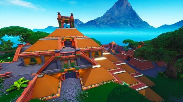 堡垒之夜v8.0地图改动 火山口神庙和悠闲湖