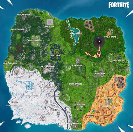 堡垒之夜第八赛季地图变化 地图变动一览